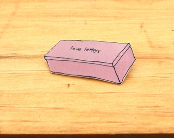 Love Letters Shoebox Pin