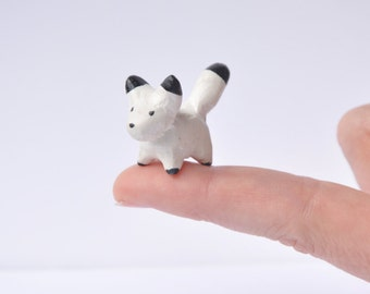 Miniature Polymer Clay Pocket Fox
