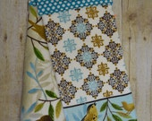 Handmade Hanging Kitchen Towels, Set of Two, Birds and Feathers, Kitchen Towels, Hanging Towels, Bathroom Towels