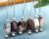 Stitch Markers, Knitting, Red Tourmaline, Semi-Precious Stones, Snag Free, Jeweled Tool, Knitting Accessory, Supplies, Handmade, Gift