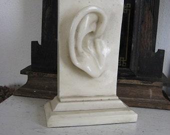 Large Stone Sculpture Statue Human Ear Great Conversation Piece!
