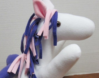 Stuffed Plush Pegasus Stuffed Animal Divine Horse Stuffed Toy With Multi Colored Mane and Tail
