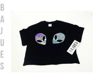 Cool Hologram Alien Crop Top Available in All Sizes
