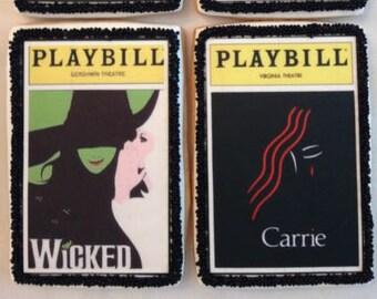 Broadway Playbill Cookies