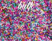 Bulk (2lbs) Rainbow Sprinkles, Gluten-Free, Vegan, Jimmies, Skinny Sprinkles, Canadian Sprinkles