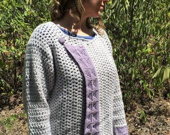Womens crochet cardigan pattern, Canton Cardigan