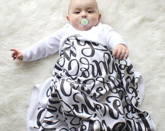 Baby Swaddle - I knew you before I formed you in your mother's womb - Jeremiah 1:5