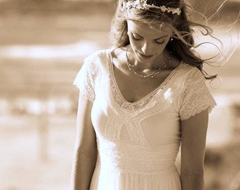 Bride Flower Crown bridal flower headpiece bridal floral headband lace head piece wedding hair wreath wedding hair crown bride hair flowers