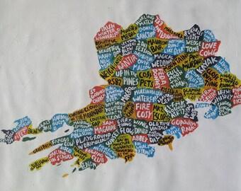 Cork, watercolour ink, 59 x 84cm map, original artwork