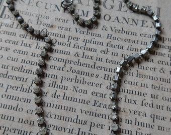 Sweet antique French diamante necklace pendant c1930    ATTIC FIND c1930  Belle Brocante