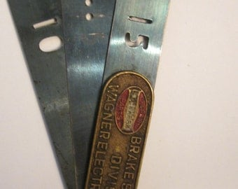 Vintage Wagner Lockheed Hydraulic Brake Repair Tool - Copper Logo Plate - St Louis Division - Feeler Gage Feel Gauge