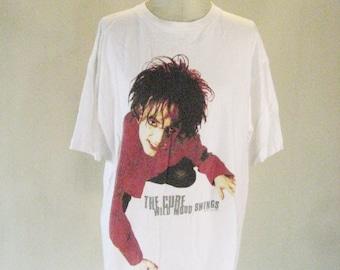 The Cure White Robert Crawl Swing Tour Shirt Top