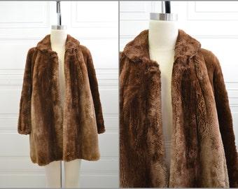 1950s Henri Kessler Brown Beaver Fur Coat