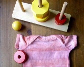 Sun Printed Bodysuit, Orange & Red-Violet, Girl or Boy, 6 Months