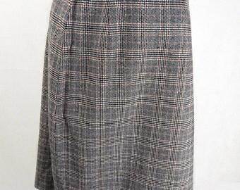 Original Vinatge 1950s Dogtooth Skirt UK Size 14