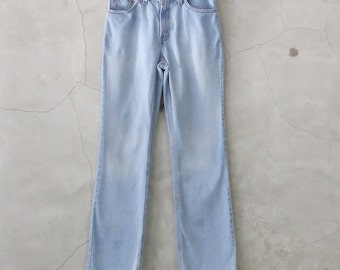 """Levis Jeans, high waisted 90's Levis 517 straight bootcut stone wash denim jeans, womens 8 / 28"""" 1990s"""