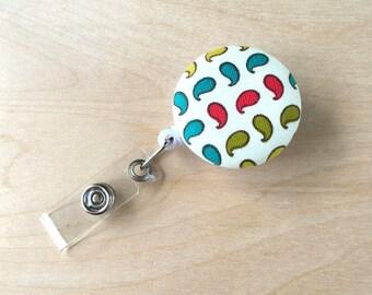 Retractable Badge Reel Holder - Simple Paisley