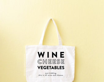 Tote, Grocery Tote, Reusable Grocery Bag, Gift For Her, Funny Tote Bag, Wine Tote, Sturdy, Mom Gift, Wine Lover Gift, Farmers Market