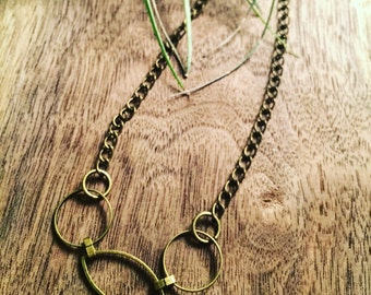 Delicate Brass necklace
