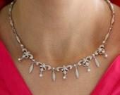 18K white gold diamonds necklace