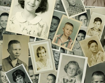 "63 pc - Vintage Photos ""School Collection"" Snapshot Old Photo Antique Black & White Photography Paper Ephemera Collectibles - 020616"