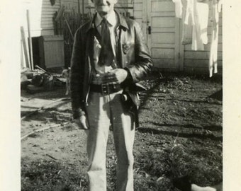 "Vintage Photo ""The Georgia Deputy"" Snapshot Antique Photo Black & White Photograph Found Paper Ephemera Vernacular - 184"