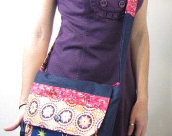 Gypsy Patchwork Messenger Bag Pink