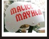 Custom Roller Derby Vinyl Sport Helmet Decal Names Numbers one or both you choose