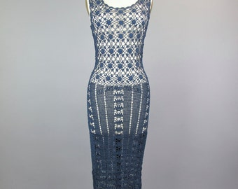 1990s Crochet Dress