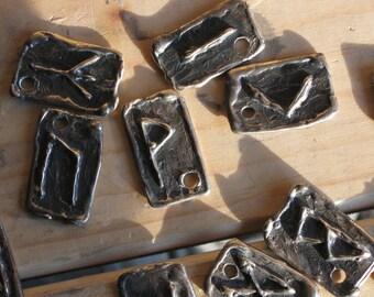 Elder Futhark Rune 24 Piece Set made in Bronze..