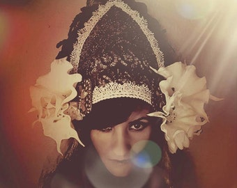 Medieval Datura  Queen  Tribal  Goddess Burning man Festival Headdress