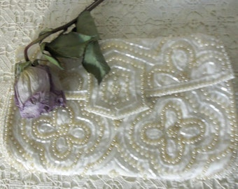 Art Deco Bridal Clutch - Antique, 75 to 100 Years Old, Bridal Clutch, Designer Clutch, Keepsake, Something Old, Collectible, Gift:   BBD-902
