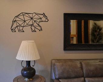 Geometric Bear wall vinyl sticker decal LM009