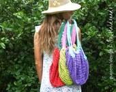 Crochet pattern Grocery Bag PDF - tote mesh crochet bag - Instant Download