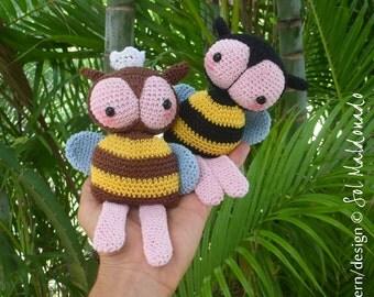 Crochet Bee Amigurumi Pattern PDF - Bee amigurumi Toy crochet pattern - Instant DOWNLOAD