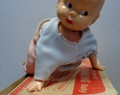 IRWIN,Mechanical Crawling BABY Doll,Plastic,Wind-Up Toy, Made in USA, Great in almost like New Condition