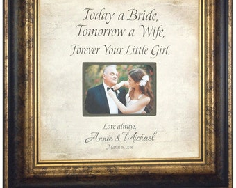 Wedding Gift for Parents, Mother of the Bride Gift, Today A Bride 16 X 16