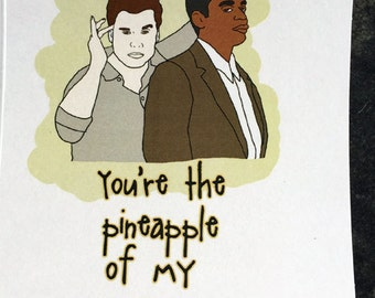 Psych Pineapple Card
