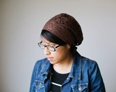 Brown Lace Snood Headcovering | Women's Headcovering Veil