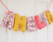 AMELIA - Personalized Baby name wall hanging, nursery decor. Baby Girl christening gift, baby shower. Personalized birthday gift for kids.