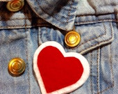 Punky Brewster heart brooch badge pin
