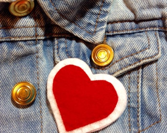 Punky Brewster heart brooch badge pin