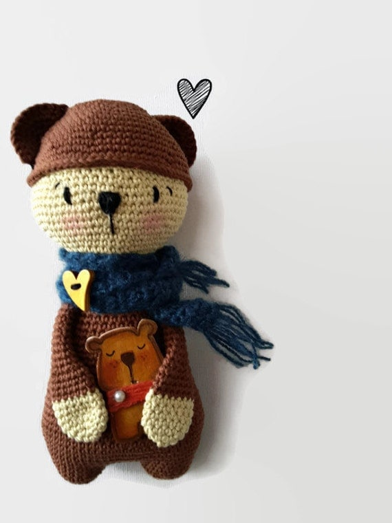 Amigurumi Little Teddy Bear : Crochet Teddy Bear plush bear amigurumi by CreoErgoSumHandmade