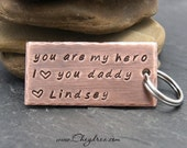 DAD GIFT WEDDING, My Dad My Hero, I love you Daddy, Dad Birthday Gift, Personalized Dad Keychain, Dad Gift from Daughter