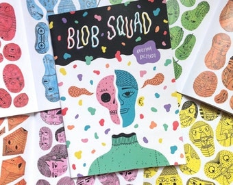 Blob Squad - Character Sketchbook, Drawing Zine