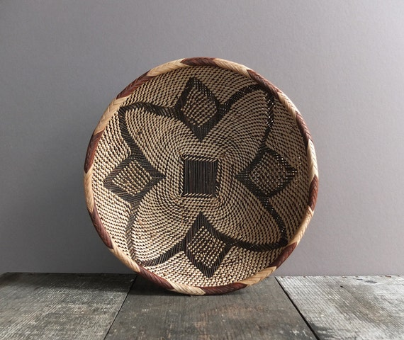 Vintage Woven Basket Wall Hanging Basket Woven Bowl