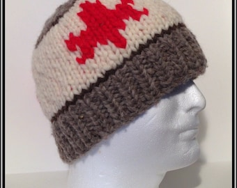 """Oh Canada Vintage Style Wool Toque """"Maple Leaf"""""""