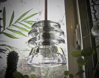 The Original Clear Glass Insulator Tiered Pendant Light Armstrong Antique Insulator Lighting Clear Glass Pendant light armstrong insulator