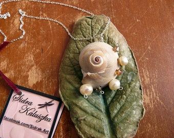 Snail Shell Charm Necklace