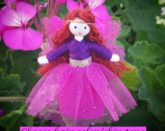 Fairy Doll  - Waldorf Fairy - Bendy Doll - Flower Fairy - Red Hair